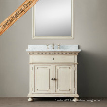 Solid Wood Bathroom Cabinet with Classic Design